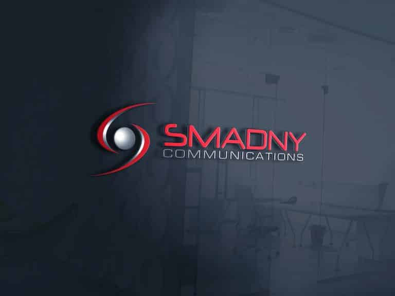 Smadny Communications Glass Office Logo-1768x576
